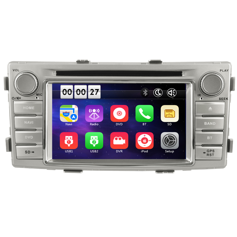 Free Shipping Two Din 6.2 Inch Car DVD Player For Toyota Hilux Fortuner 2012 2013 2014 2015 GPS Navigation Radio WIFI