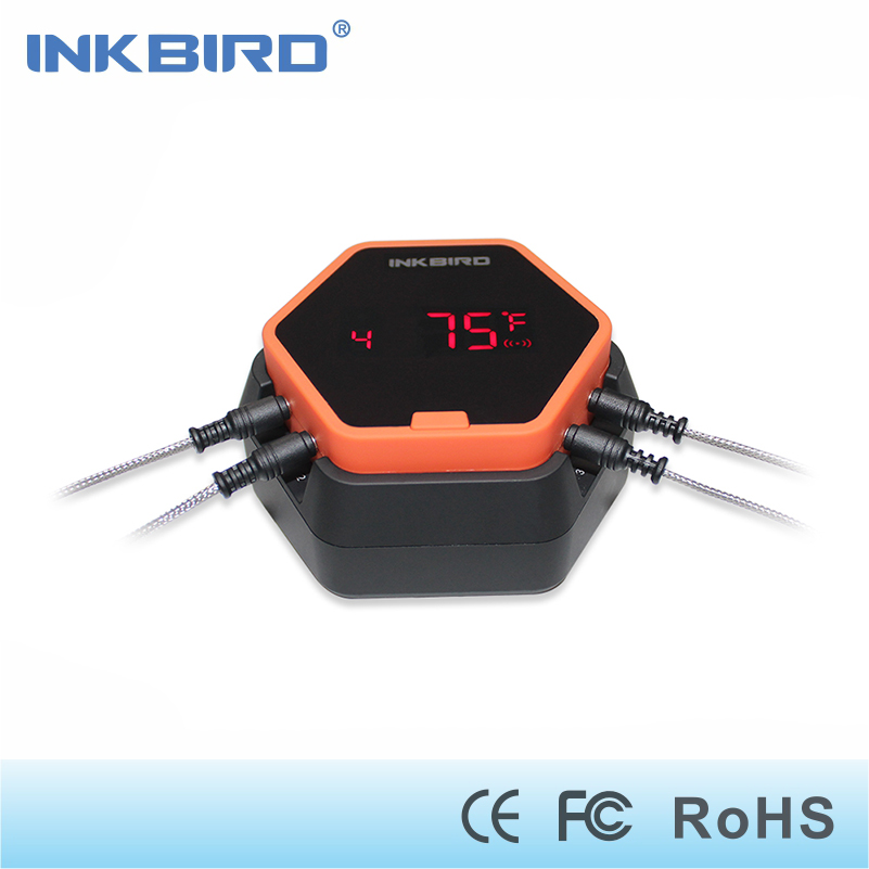 Inkbird IBT-6X Digital Food Cooking Bluetooth Wireless BBQ Thermometer With Four Probe For Oven Meat Grill Smoking BBQ Free APP цены