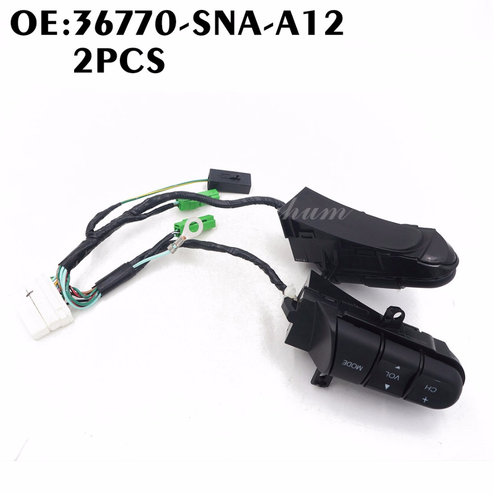 A12 Service Honda Civic Car Maintenance Console Cover Replacement 2001 Ford Windstar Fuel Filter Location 2pcs 36770snaa12 36770 Sna Steering Wheel Pad Cruise Rhaliexpress At