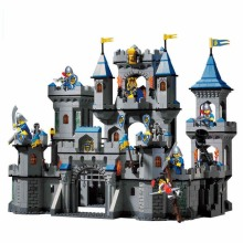 797 The dielectric block assembly enlightenment Castle dynamic century Knight fortress assembly model toys children gift