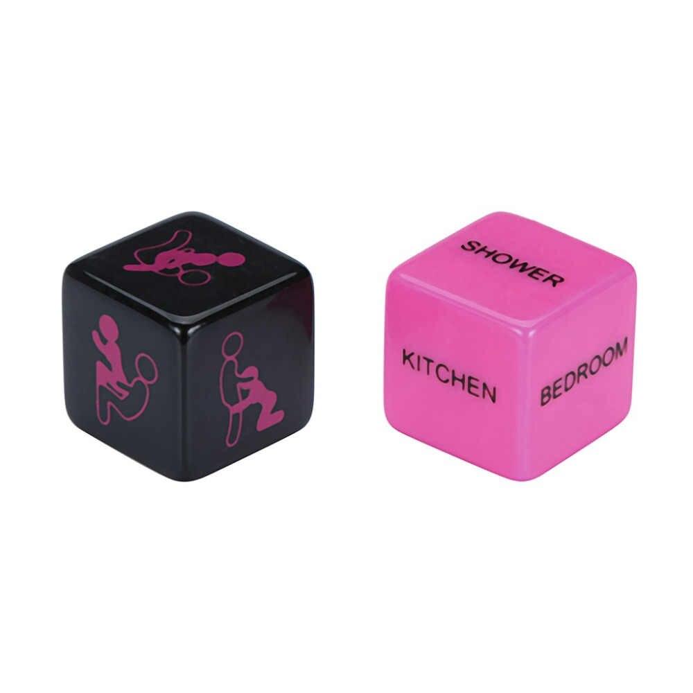 צעצועים למבוגרים סקס צעצועי גברים 2Pcs יפה זוהר אקזוטי יציבה לשחק קוביות פטיש סקס צעצועי רומנטיקה ארוטית קוביות ** D
