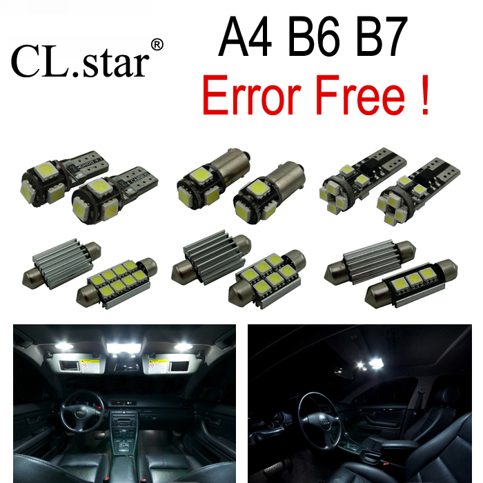 20pc X Error Free LED bulb interior light Kit Package for Audi A4 S4 B6 B7 Quattro Sedan Avant  (2002-2008) quality retractable rear cargo cover trunk shade security cover black for nissan x trail x trail 2008 2009 2010 2011 2012 2013