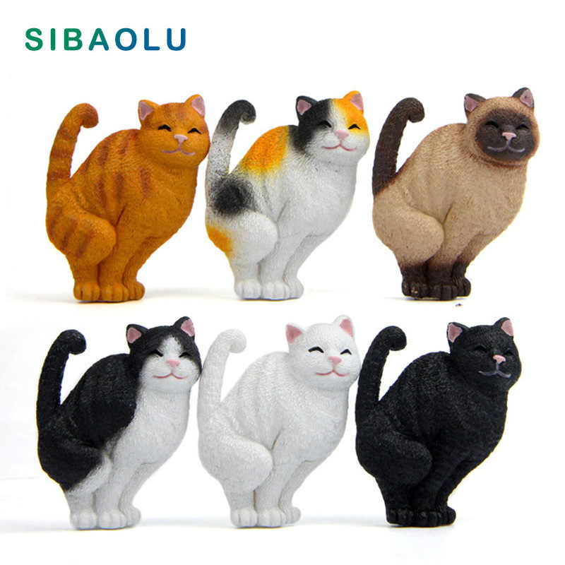 Smiling Cat Fridge Magnets Cartoon Kitten Animal figurine whiteboard sticker Refrigerator Magnets Kids toy Home Decoration