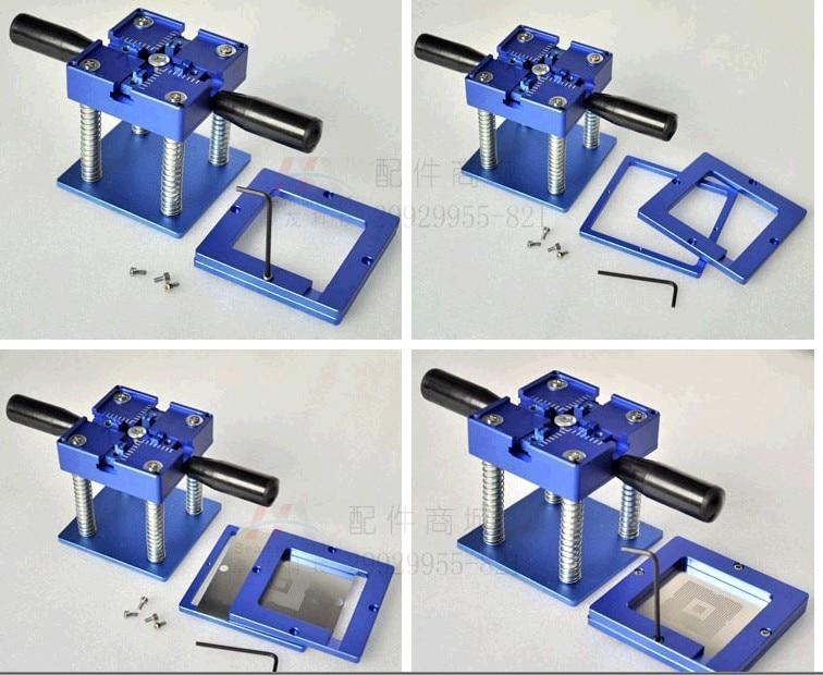 Bga Reballing kit BGA reball Station with Handle 90mm x 90mm Stencils Template Holder Jig latest laptop xbox ps3 bga 170pcs template bga kit 90mm for chip reballing