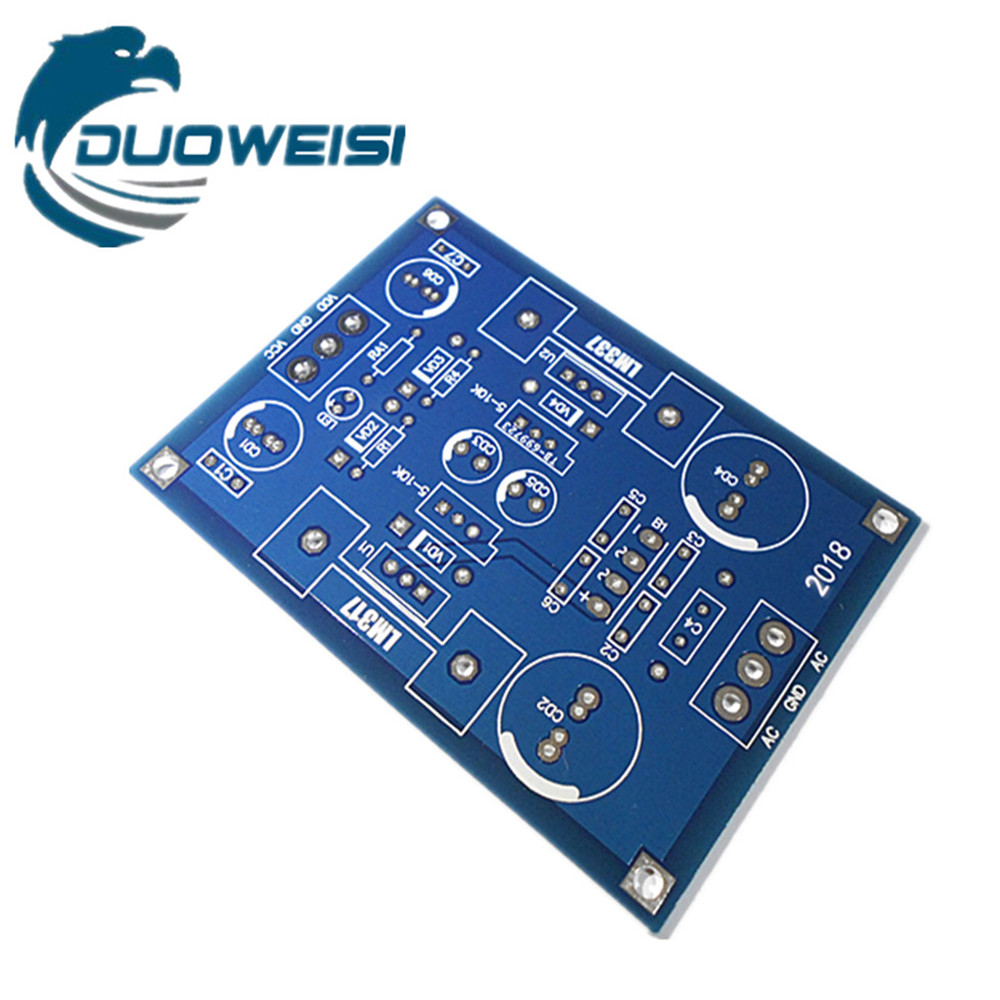 LM317 LM337 Adjustable Filter Power Supply PCB Board Continuously Adjustable Voltage Output Suitable For The Front Stage