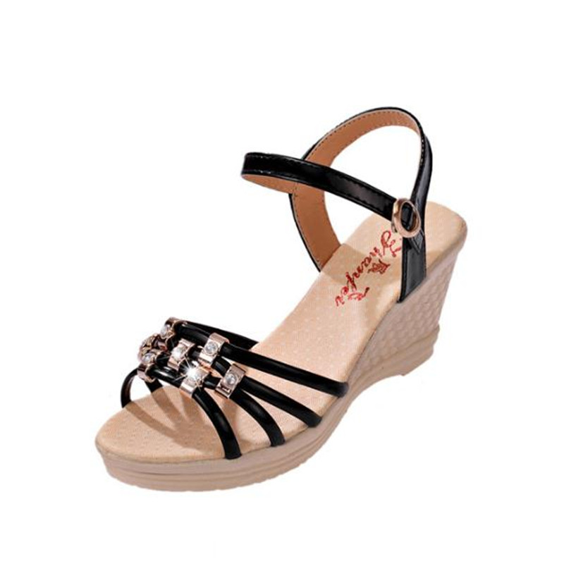 2017 new Summer Women Wedges Sandals Sweet Casual Ladies Platform Gladiator Sandals Open Toe Flats Dress Shoes Woman 2017 gladiator summer shoes woman platform sandals women flats soft leather casual open toe wedges sandals women shoes r18