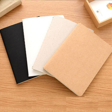 Mini Blank Paper Notebook Kraft Paper Sketchbook Journal Pocket Notebook for Sketch Graffiti Paint Draw Korean Stationery Supply paper high leather journal notebook mini stitched 80 x 105mm