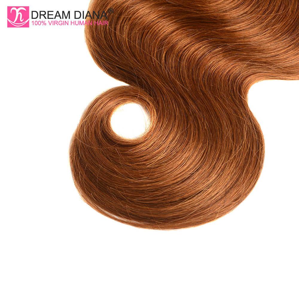 DreamDiana Ombre brasileño Body Wave 4 paquetes de dos tonos 1B 30 L Ombre Remy paquetes de tejido 100% Ombre cabello humano extensiones de