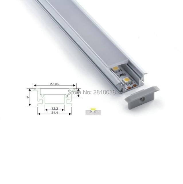 10 Sets/Lot T type Anodized LED aluminum profile Extruded Aluminium led profile LED aluminum Channel profile for Flooring light
