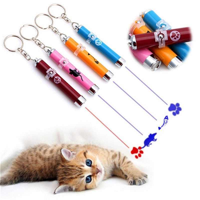נייד Creative מצחיק חתול לייזר LED מצביע לחיות מחמד חתלתול אימון צעצוע אור עט עם בהיר אנימציה עכבר צל אבזרים
