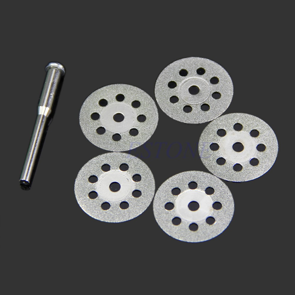 6pcs/set Carbon Steel Circular Saw Blade Rotary Tool For Dremel Power Tool Set Wood Cutting Discs Drill Mandrel Cut