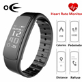 I6 Black Smart Wristband Heart Rate Monitor Waterproof Bracelet Smart Watch Sport Fitness Smart Wristwatch for Android iOS Phone