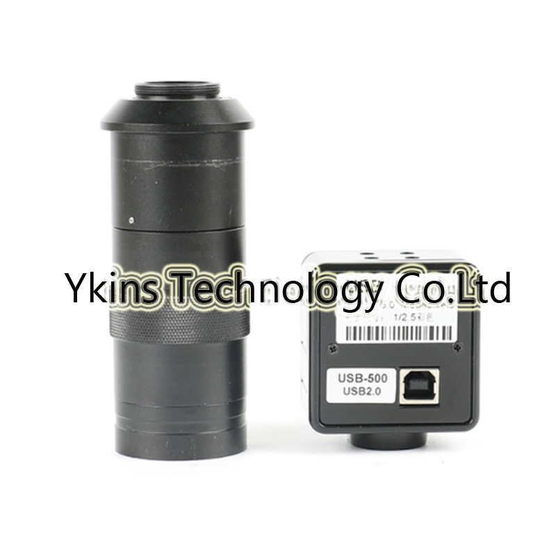 HD 5.0MP <font><b>USB</b></font> Camera Electronic Digital Eyepiece <font><b>Microscope</b></font> + <font><b>100X</b></font> C-MOUNT Lens image