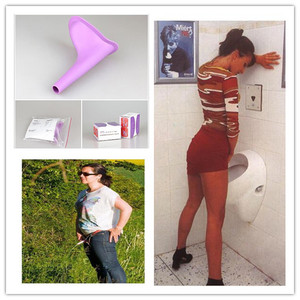 New Design Women Urinal Travel Outdoor Camping Soft Silicone Urination Device Stand Up & Pee Female Urinal Toilet(China)