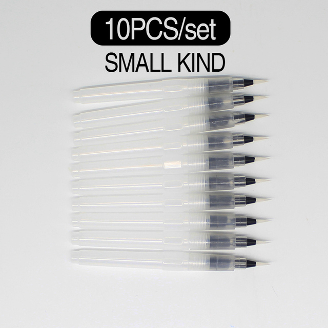 Memory 10pcs/Set watercolor paint brushes set with water brush pen artistic for drawing watercolors acrylic and oil