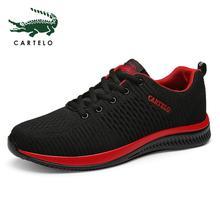 CARTELO شبكة الرجال حذاء كاجوال لاك متابعة حذاء رجالي خفيفة الوزن مريحة للتنفس المشي أحذية رياضية تنيس Feminino Zapatos