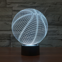 Cool 3D Basketball Sport Home Decoration LED illusion Touch Usb 7 Color Change Lamp Bedroom Night Light Best Child Boys Man Gift
