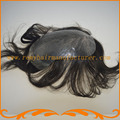 Бесплатная доставка супер тонкая кожа тупею вводят узел Индийские волосы натуральных волос мужские парики реми волос toupe на складе