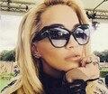 M33 NOVOS Pontos de Gradiente Óculos de Sol Tom Grifes de Alta Moda Para Mulheres Óculos De Sol Cateyes óculos de sol feminino