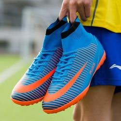 Sufei Futebol TF Sapatos de Alta Botas Suferfly FG Chuteiras Futsal Barato Meia do Tornozelo de Futebol Profissional de Treinamento Esporte Sneakers
