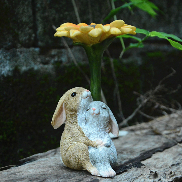 Everyday Collection easter decorations for home new year cute rabbit figurines miniature tabletop ornaments Fairy garden 5