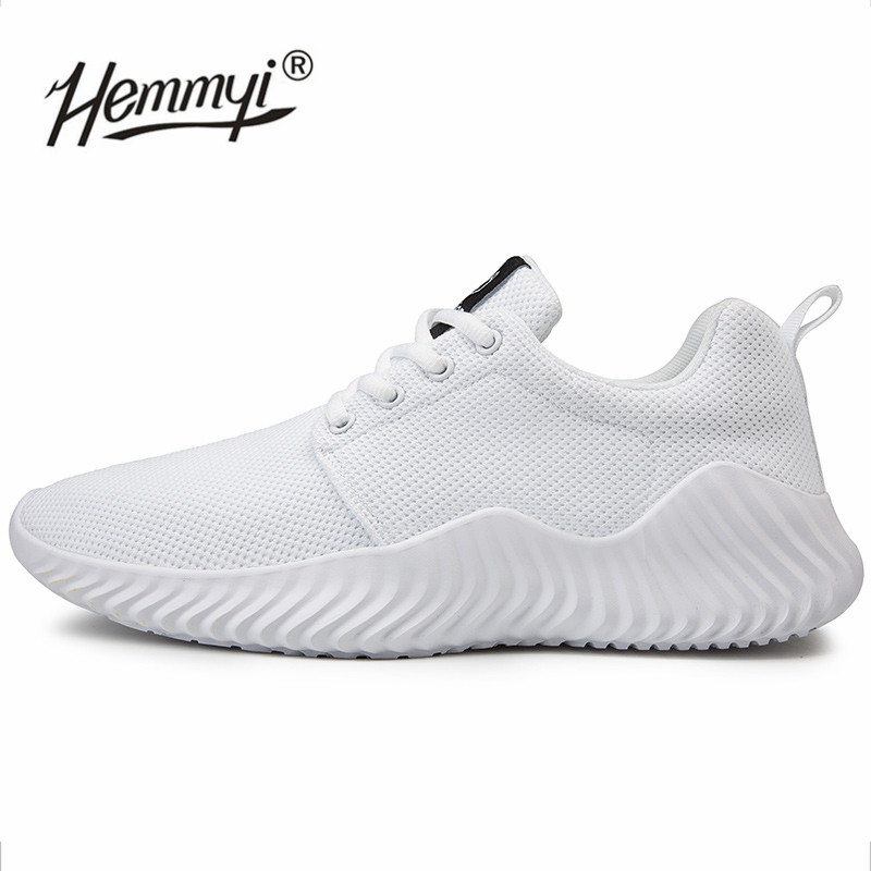 Hemmyi 2019 Light Men Sneakers Summer Autumn Mesh Breathable Comfortable Soft Sport Shoes Big Size 39-47 Running Shoes Black(China)