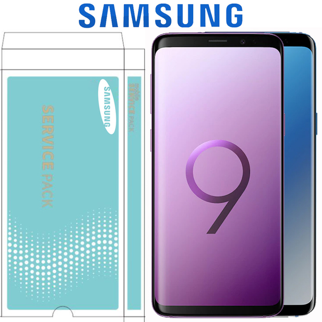 ORIGINAL 2960*1440 LCD with Frame for SAMSUNG Galaxy S9 Display S9+ Plus G960 G965 Touch Screen Digitizer with Service Pack