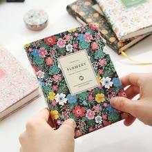 Винтажные еженедельник цветочный расписание молочные книга из искусственной кожи ноутбук прекрасный канцелярские каваи школьные канцелярские принадлежности для девочек