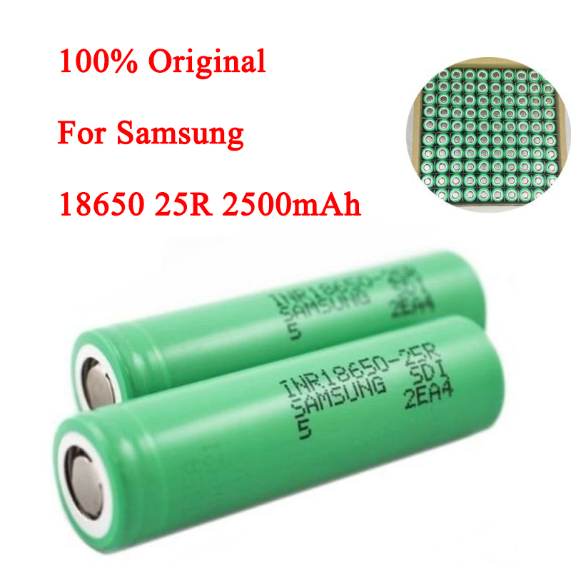 1/2/4 pcs Battery For <font><b>Samsung</b></font> <font><b>18650</b></font> <font><b>25R</b></font> 2500mAh 3.7V Lithium Battery image
