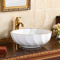 Современный минималистский чашка для дома керамический умывальник для ванной выше счетчик бассейна круглый искусства бассейна LO622149