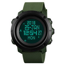 Time Secret Mens Digital Wristwatches Multifunction Outdoor Sports Steps Luminous Waterproof Calorie Compass Alarm Watch