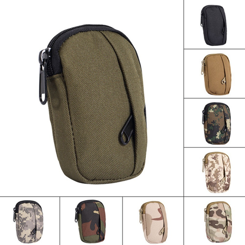 Military Tactical Bag Camping Hiking Pouch Hunting EDC Pack Military Functional Camo Bag Molle Pouch Small Practical Coin Purse