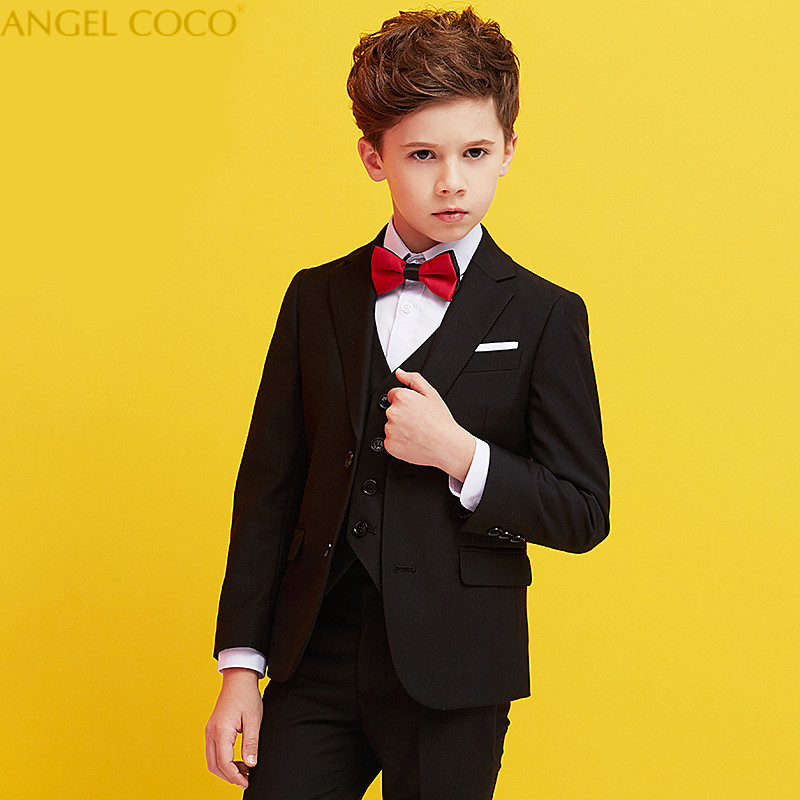 Nimble Boys Suits For Weddings Costume Enfant Garcon Mariage Suit Boy Single-Breasted Kids Wedding Suit Blazer Boys Prom Suits single breasted lapel flap pocket business blazer