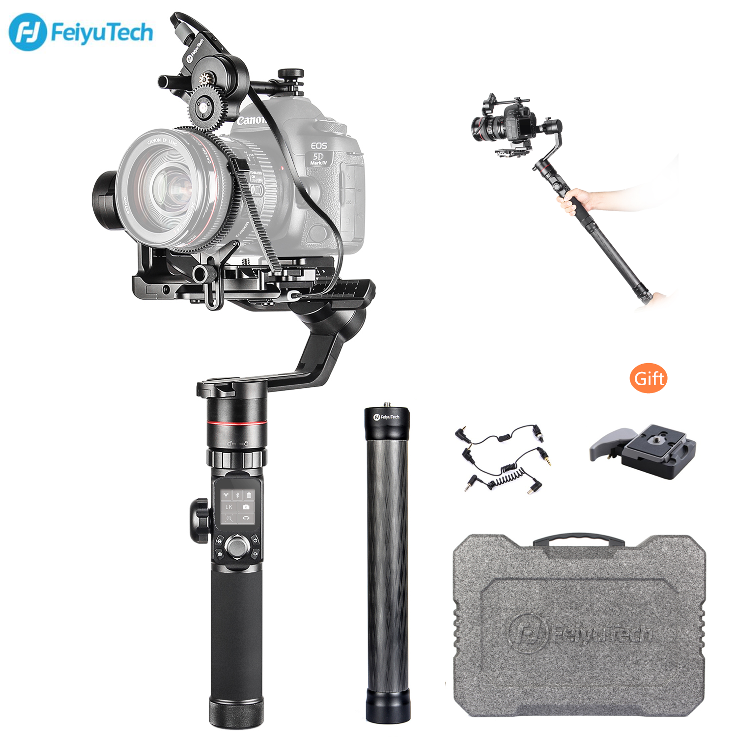 FeiyuTech Feiyu AK4000 3 Axis Handheld Gimbal Stabilizer for Canon Sony Panasonic Mirrorless DSLR Camera Cinema CamcorderFeiyuTech Feiyu AK4000 3 Axis Handheld Gimbal Stabilizer for Canon Sony Panasonic Mirrorless DSLR Camera Cinema Camcorder