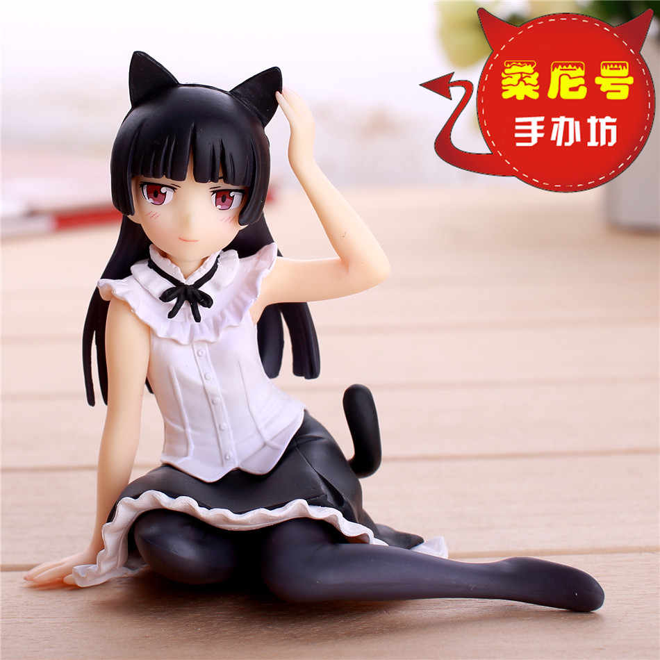 "Hot Comic Anime Oreimo Kuroneko Ore No Imouto Gokou Ruri Lucu Sexy Duduk Mimpi Tech 4 ""Action Figure"