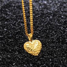 "Fashion Women Jewelry Tiny Elegant Small Gold Love Heart Cute Short 24"" Necklace Present Great Gift for Mother Baby Girls"