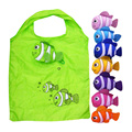 Cute Candy Color Special Purpose Bag Reusable Fish Folding Shopping Bag Travel Bag Grocery Bags Shopper Tote Handbag W1