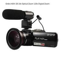 ORDRO HDV HDV-Z82 3.0 Inch TFT LCD Màn Hình Cảm Ứng 1080 P HD Máy Quay Phim Hot Shoe 24MP 10X Chống rung CMOS Zoom quang học Máy Ảnh