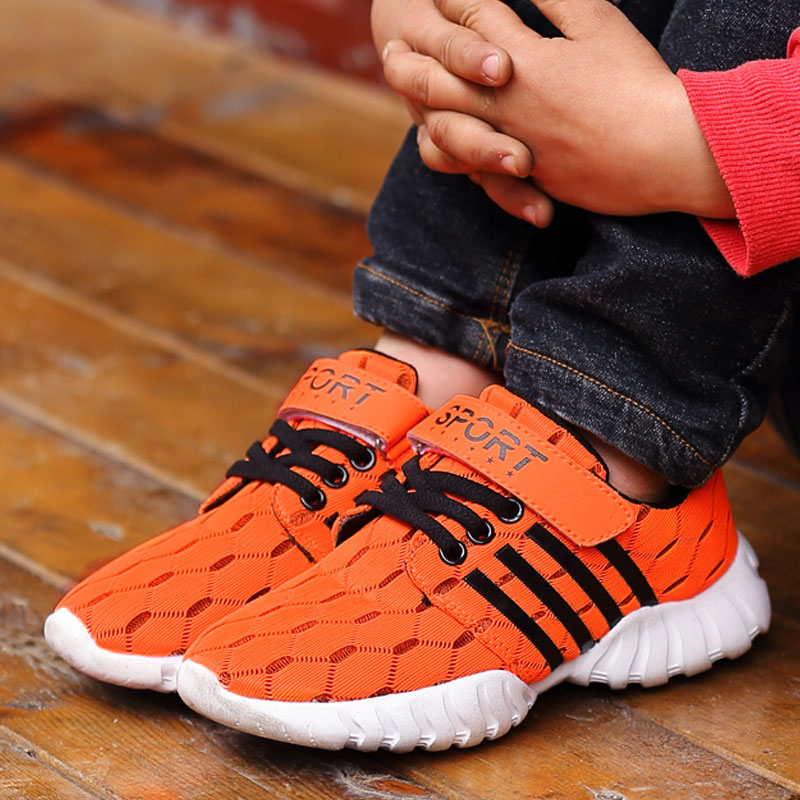 New Sports running shoes relaxed and comfortable breathable lightweight male and female children children shoes Net