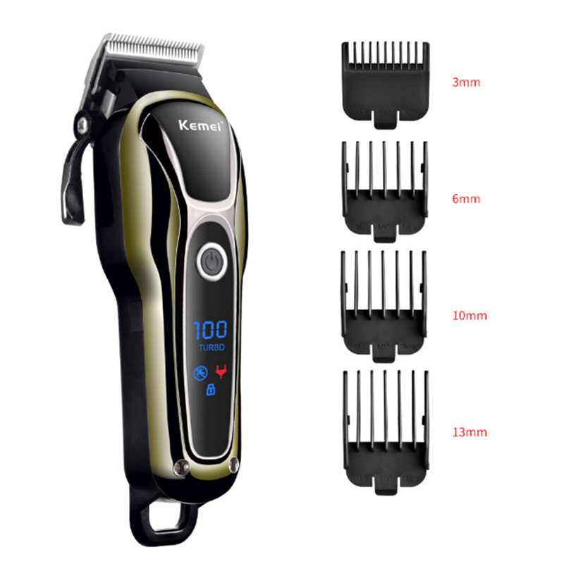 Professional Hair Clippers Fast Charging Cordless Hair Trimmer Suitable For Family  Low Niose Hair Cutting Machine