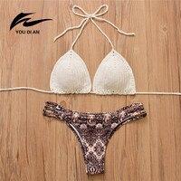 Bikini Set Handmade Crochet Bikini Women Swimsuit Brazilian Biquini 2017 Crochet Swimwear Bathing Suit Female Bandage