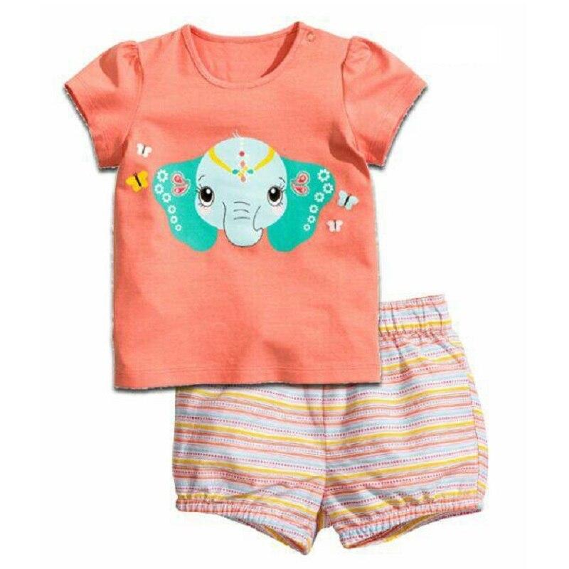 2-12 Year Children Pajamas Sets Polka Dot Baby Girls Sleepwear nightdress Pink Girl pijama loungewear T-Shirt Trouser PJS Cotton 5