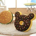 Creative Wholesale Plush Toys Mickey Donut Cushion Pillow Jewelry Gift Home Furnishing Hamburger