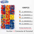 1080Pcs/Set 22-12AWG Mix Color Wire Copper Crimp Connector Insulated Insulated Cord End Cable Wire Terminal Kit DIY brass DIANQI