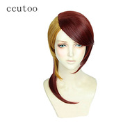 ccutoo Yellow Red Mix Long Synthetic Women's Houseki no Kuni Rutile Cosplay Wig Heat Resistance Costume Party Wigs Hair