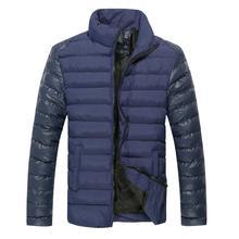 Оптовая высокое качество Бесплатная доставка 2 ЦВЕТА ПЛЮС размер М-3XL зимняя куртка мужчины мужская зимнее пальто бренд мужской одежды