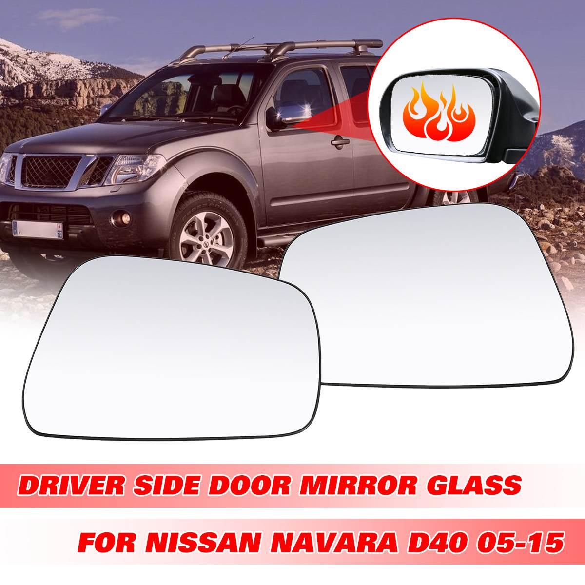 Left Manual Chrome Door Mirror For Nissan Navara D40 2005-2015