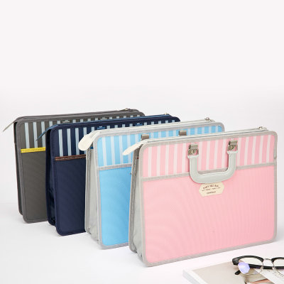 Fashion Portable Folder Briefcase Student File A4 Paper Doent Bag Book Doents Organizer In From Office School Supplies