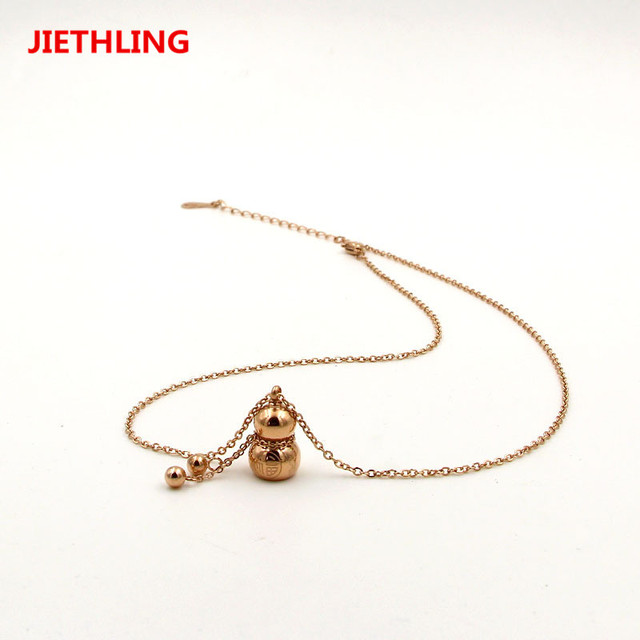 Popular chinese ethnic jewelry silverrose gold color letters popular chinese ethnic jewelry silverrose gold color letters gourd pendants chains necklaces for men mozeypictures Gallery