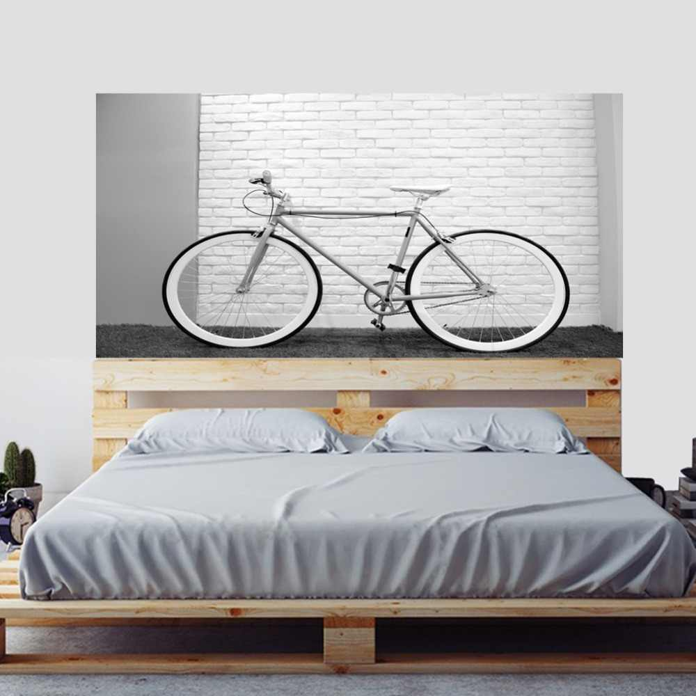 Still Life White Wall And Bicycle Wall Sticker Bed Head Stickers Simple Home Decoration Living Room Bedroom Office Home Decor